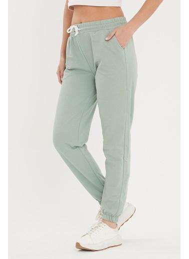 Viking Jeans Beli Ve Paçası Lastikli Cepli Eşofman Altı Yeşil